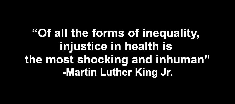 Martin Luther King Jr. on inequality in health
